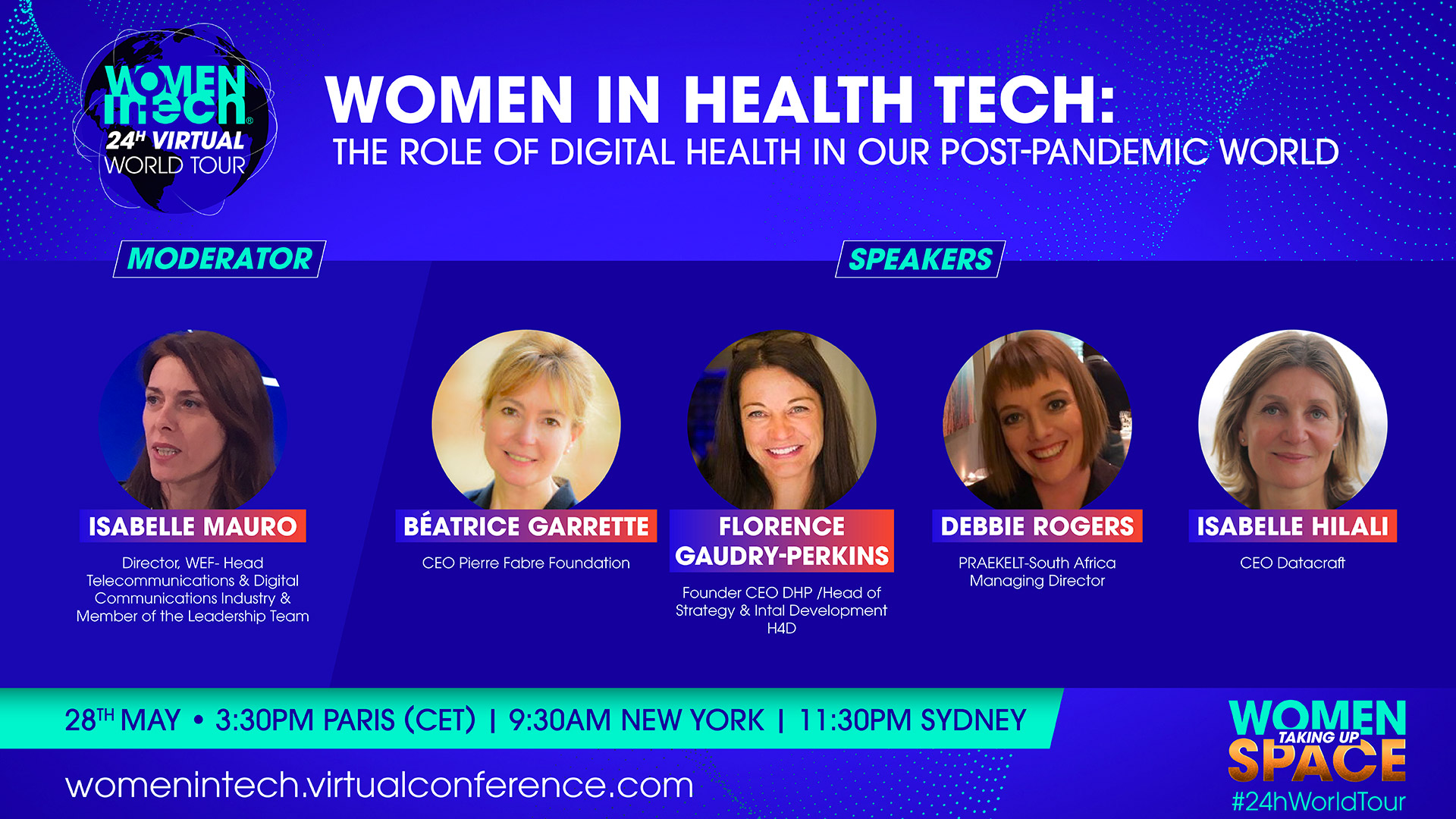 """Women in Health Tech """"the role of digital health in our post-pandemic world"""""""
