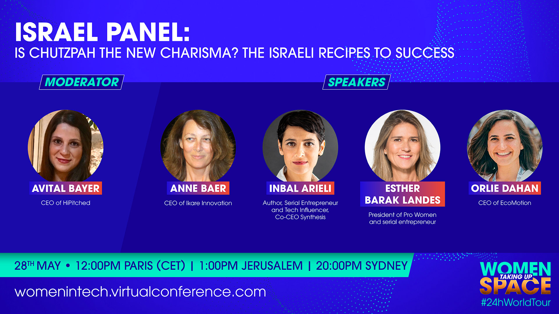 Women in Tech Israel Kickoff – Is Chutzpah The New Charisma The Israeli Recipes To Success