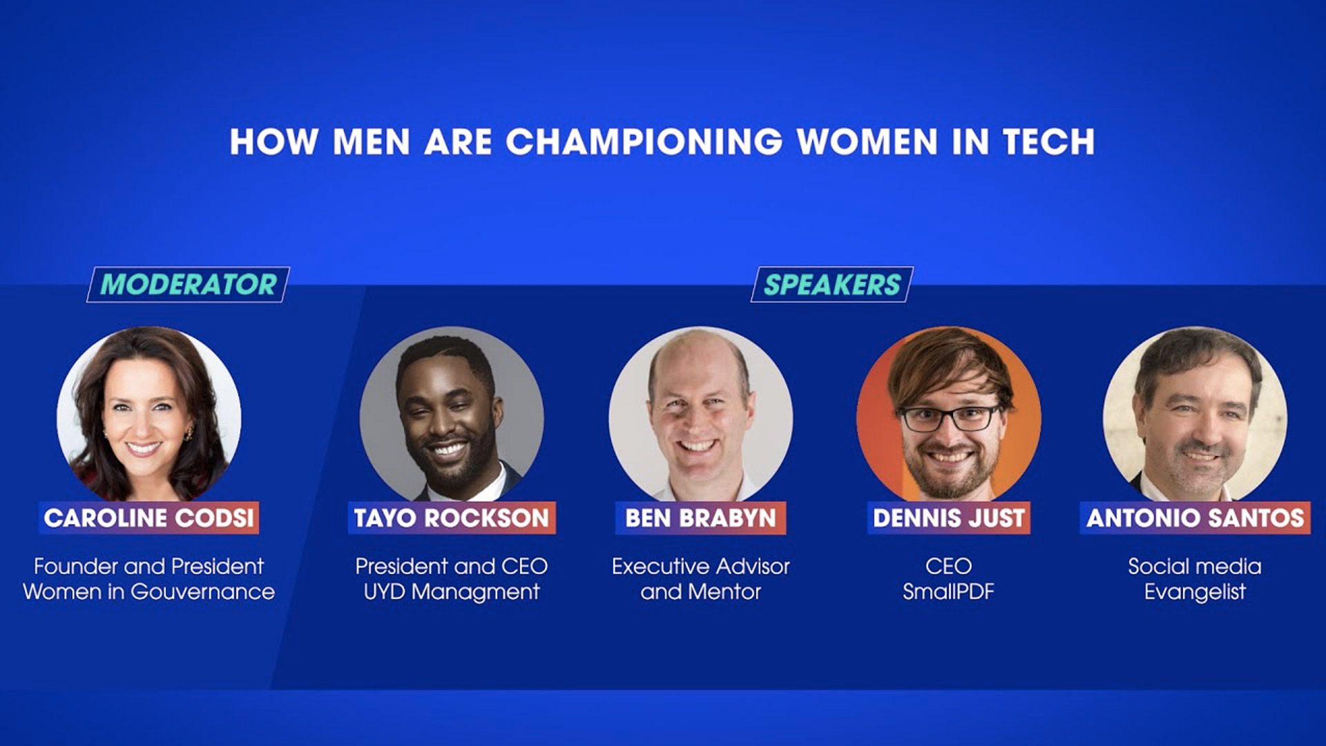How men are championing Women in Tech