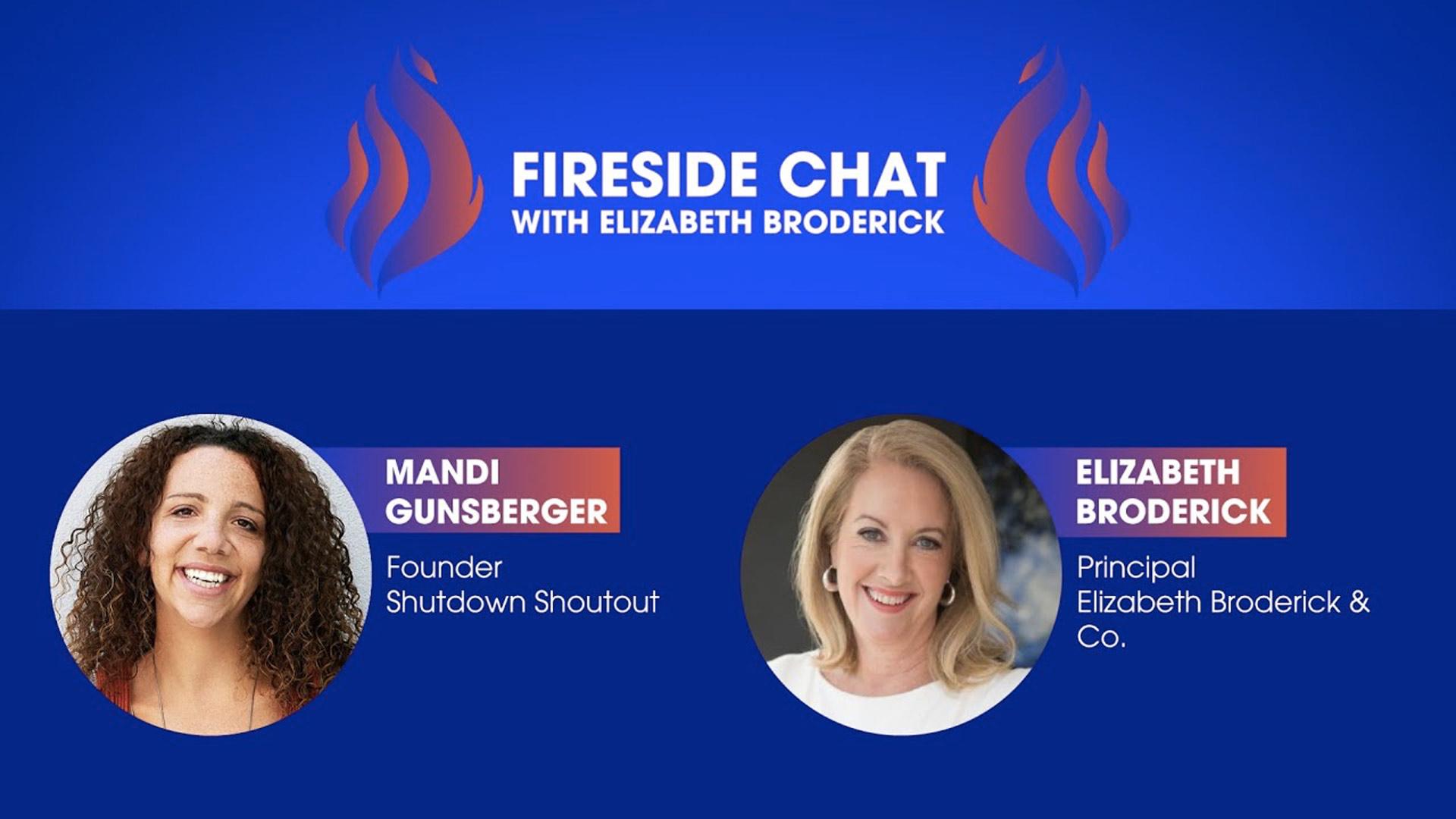 Fireside Chat with Elizabeth Broderick and Mandi Gunsberger