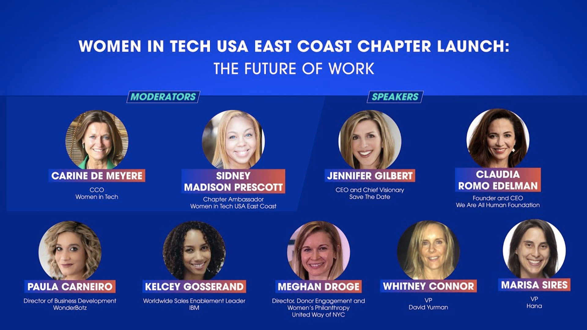 Women in Tech USA East Coast chapter launch: The future of work